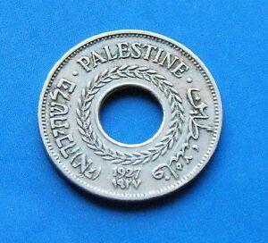 Israel-Palestine-British-Mandate-5-Mils-1927-Coin-XF