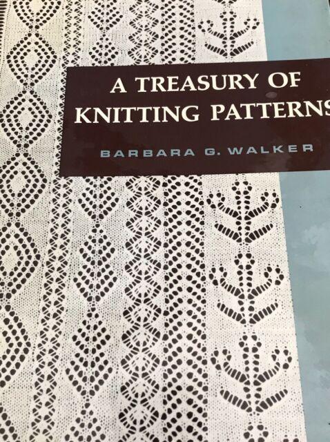 A Treasury Of Knitting Patterns Barbara Walker~Vintage HB ...