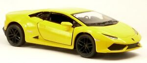 Nouveau-Lamborghini-Huracan-LP-610-4-jaune-modele-de-collection-12-5-cm-article-neuf-Kinsmart