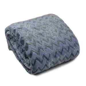 Tagesdecke Sofadecke Bettüberwurf Kuscheldecke 160x200 220x200 Microfaser Silber