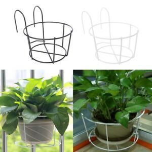 Hanging-Plant-Iron-Racks-Balcony-Round-Flower-Pot-Rack-Railing-Fence-Outdoor