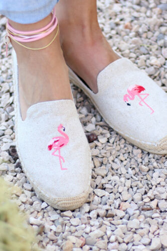 Soludos Girls Summer Shoes Flamingo Smoking Slipper UK 4 Brand New RRP £60