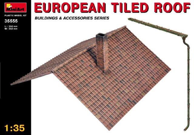 European Tiled Roof Diorama Accessories 1:35 Plastic Model Kit MINIART