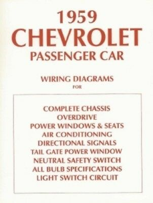 chevrolet 1959 chevy car el camino wiring diagram 59 ebay. Black Bedroom Furniture Sets. Home Design Ideas