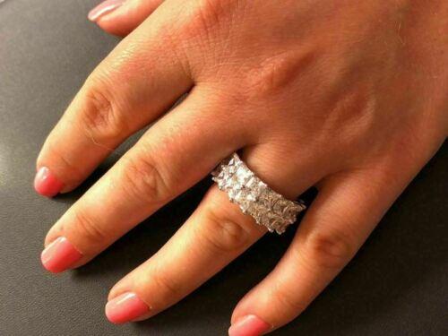 Tennis Ring 14k Gold /& Solid 925 Silver Princess Cut Diamond Pinky Wedding Band