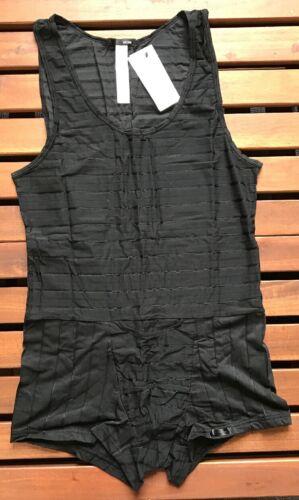 HOM-400819-0004 Black HOM Men/'s Insider Short Jumpsuit Underwear Medium
