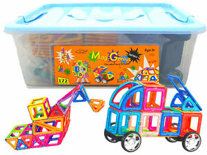 Mag-Genius-Magnetic-Building-Blocks-Tiles-Construction-Stacking-Toy-Set-Game-3D