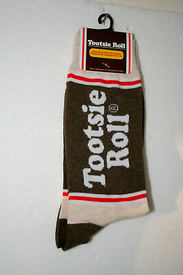 1 pair Brown Tootsie Roll Candy Wrapper New Pair Socks French Fits 6-12 2018