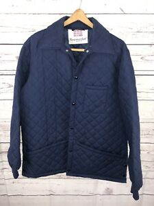 VTG Newmarket Senlis Barbour Quilted Barn Jacket Coat Sz ...