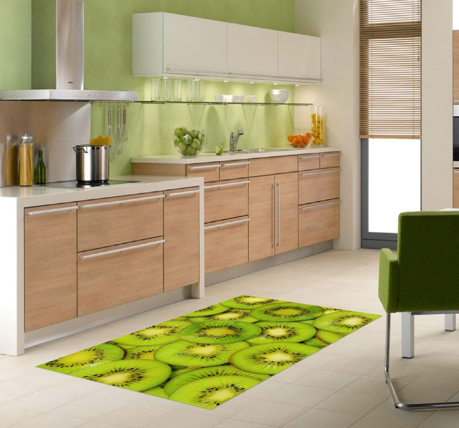 3D Green Kiwi Fruit 89 Kitchen Mat Floor Murals Wall Print Wall Deco UK Carly