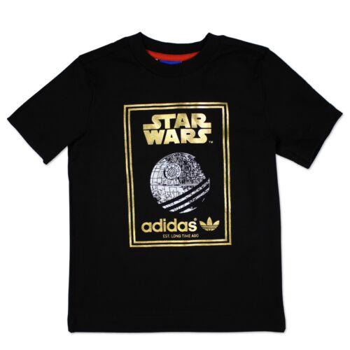 Adidas Originals Star Wars Kids Death Star tee Black Gold 74-176