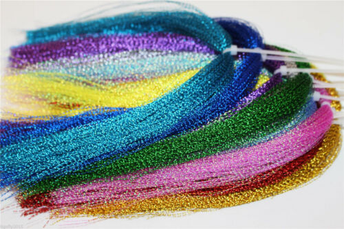 22 Colors Crystal Flash Holographic Tinsel Flashabou Sparkle Fly Tying Materials
