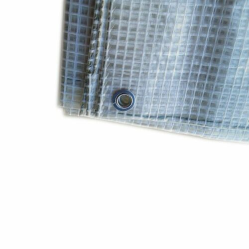 TELO PVC RETE OCCHIELLATO ESTERNO IMPERMEABILE ESTERNO BIANCO GAZEBO PISCINA PKR