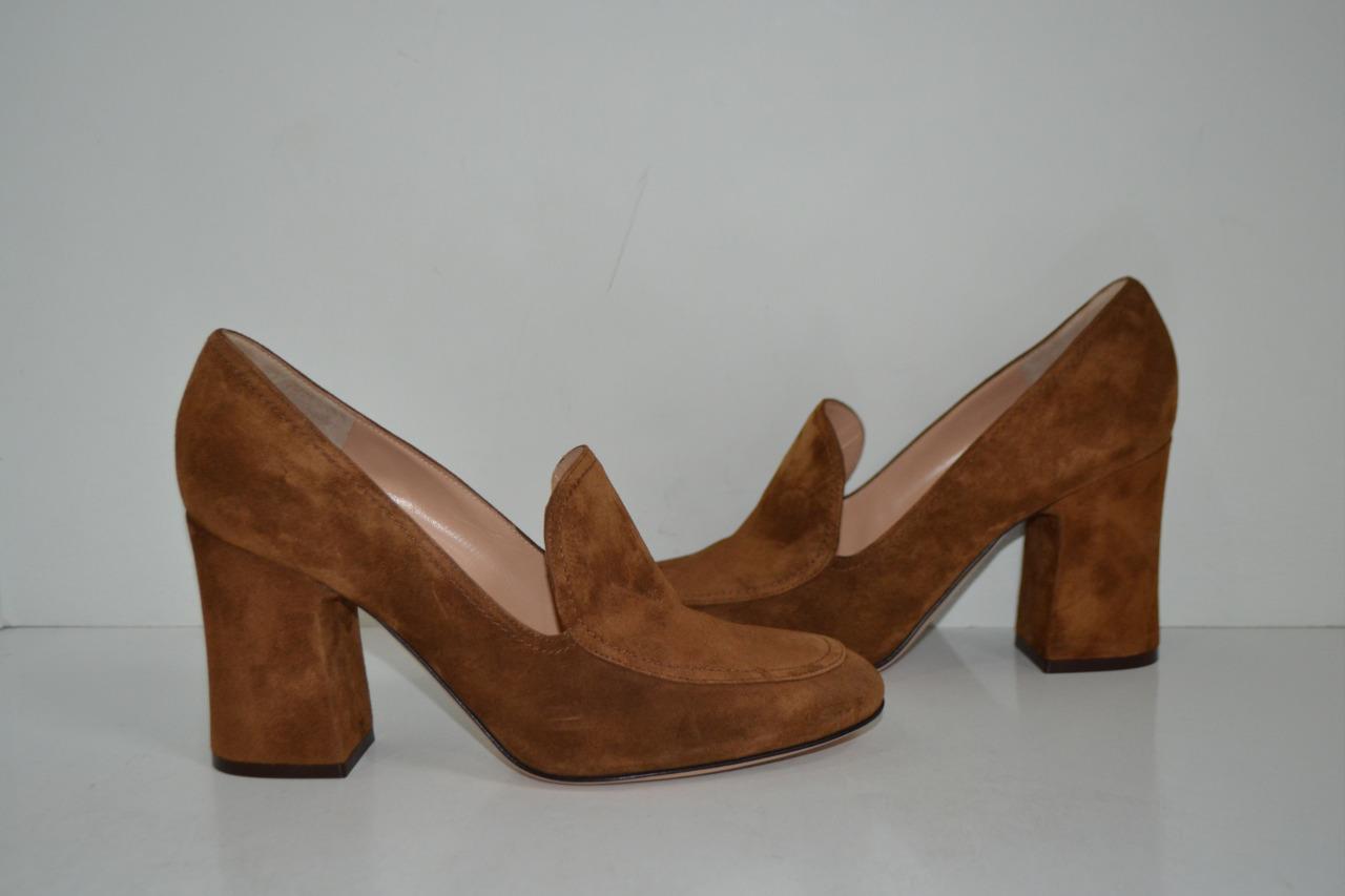 NWOB Gianvito Rossi Gamuza Marrón    Marcel  Mocasín Zapatos De Salón Talla 39  Envio gratis en todas las ordenes