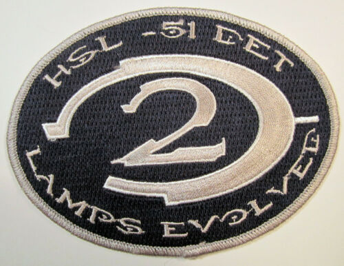 Details about  /HSL-51 DET 2 Lamps Evolved Oval Rare Military Patch Large New Blue Silver USA HT