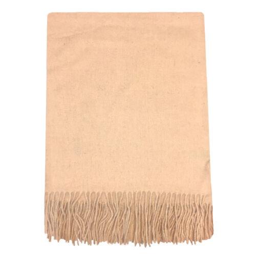 Wollschal 100/% Wolle XXL 200x70 cm Damen Schlicht Winter Herbst Warm Trendfarben