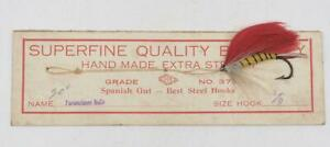 Vintage-Superfine-Parmachene-Belle-Trout-Flies-Fly-Fishing-On-Card-Spain