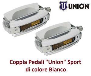 Coppia Pedali XERAMA Alluminio Corona Bianca per Bici 20-24-26 Graziella 0085