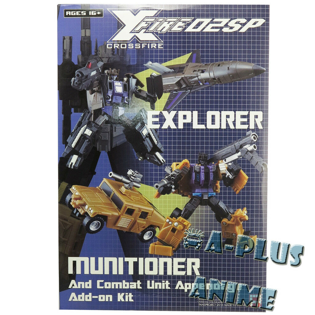 Transformers Crossfire Fansproject Explorer Munitioner agregar en Kit Bruticus