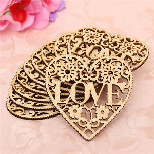 10X-Laser-Cut-Decorative-Heart-Wedding-Wooden-Shapes-Craft-Embellishments-Fast