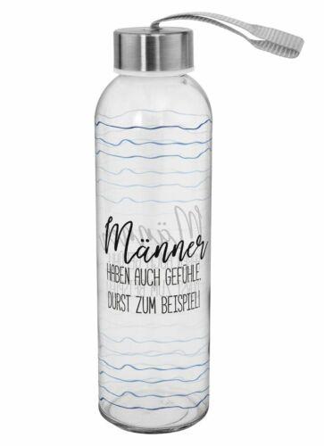 Glas Flasche 0,5 Liter Hoch 22cm Sheepworld Trink Motivauswahl