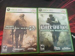 Call Of Duty Modern Warfare 1 & 2 - Microsoft Xbox 360 - 2 Game Bundle
