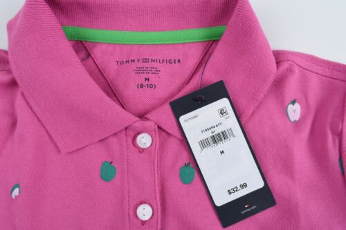 Pink size 8-10 Years TOMMY HILFIGER Girls/' Adorable Apple Print Polo Shirt