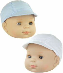 912d70d3f Details about BabyPrem Baby Clothes Boys Blue White Summer Sun Cap with  Peak Hats 0 - 18m