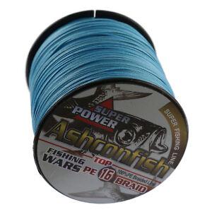 Hollow-Ashconfish-16-Braid-Fishing-Line-20LB-500LB-Test-100M-Blue-Hollow-Core