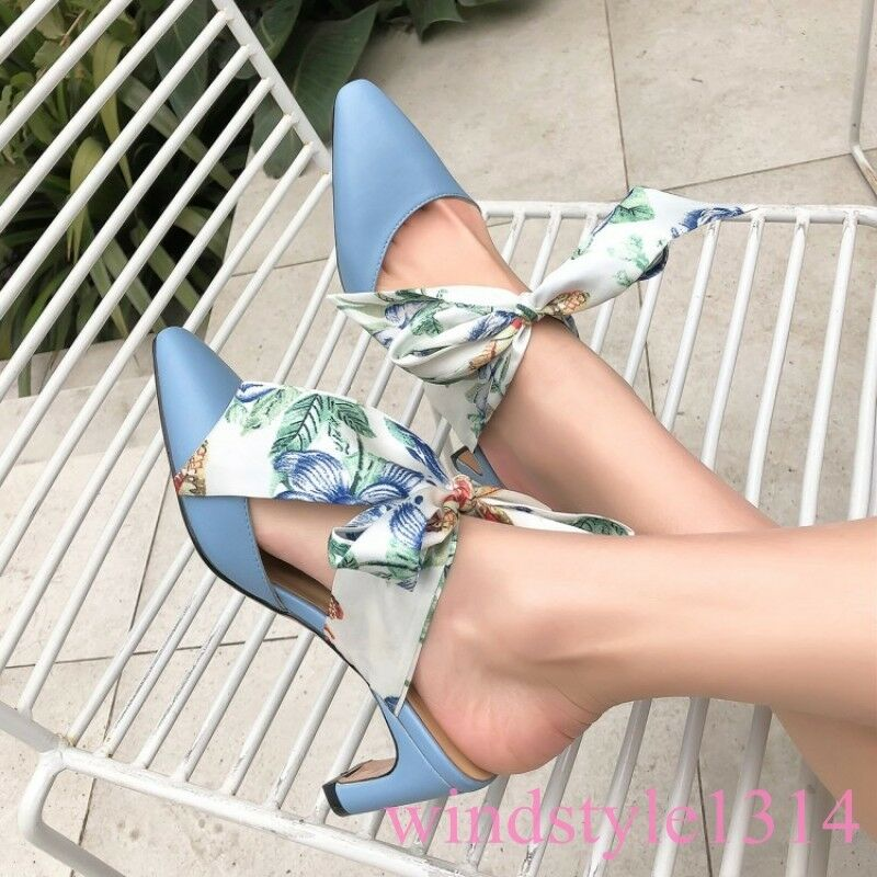 Fashion Square Toe Kitten Heel Leather 2019 New Summer Apring Pumps Bowknot shoes