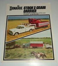 Donahue Stock Amp Grain Carrier Trailer Sales Brochure Ford Truck Ih Combine