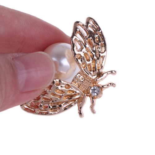 1Pc Cute bee faux pearl metal women shoe clip decor girls shoes clip buckle NIU