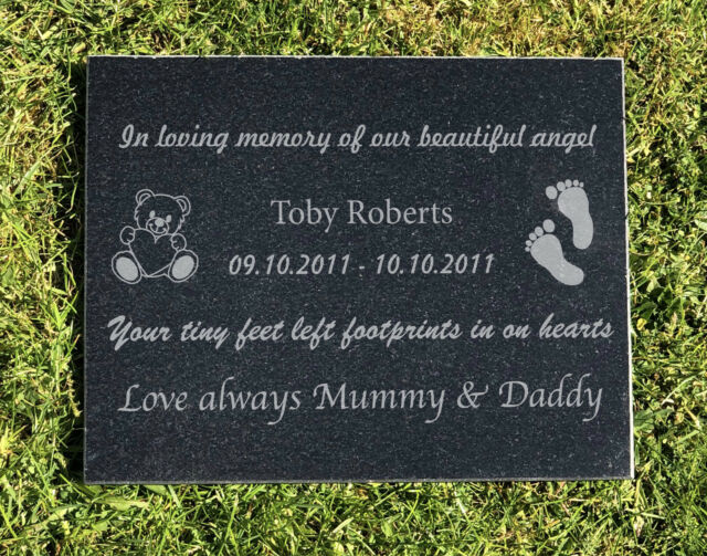 Memorial Tribute Card in Cellophane And Pick For Funeral Flowers Gravestone