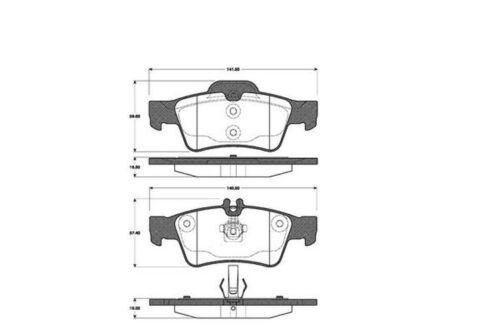 Plaquettes De Freins Bremsbelagsatz plaquettes de frein arrière 2241