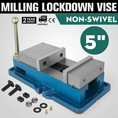 "5/"" Non-Swivel Milling Lock Vise Bench Clamp Fix Workpieces Secure 125mm Width"