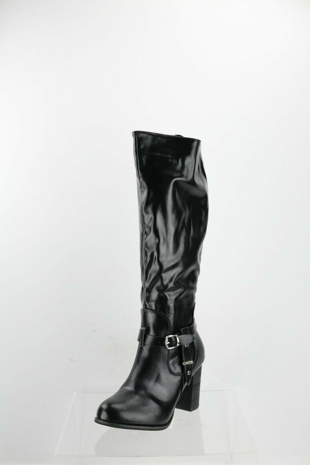 DbDk Greer-1 Black Heeled Knee High Boots Women's Shoes Size 9 M NEW