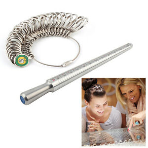 Hot Ring Sizer Finger Sizing Measuring Stick Metal Ring Mandrel US Size HF