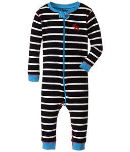 75c370e0e639 BNWT Hatley Baby Boys Infants Navy Striped Footless Romper Babygrow ...