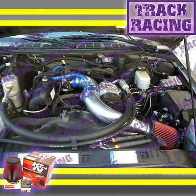 """K/&N+BLACK RED 94-97 CHEVY S10//XTREME//HOMBRE//SONOMA 2.2L FULL COLD AIR INTAKE 3/"""""""