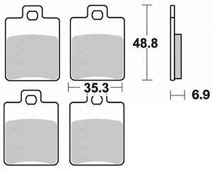 Jeu 2 plaquettes de frein Arrière de qualité Piaggio MP3 400 IE 2007-2012
