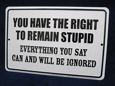 Humor CANT FIX STUPID TIN SIGN OFFICE HOME DECOR,OFFICE MANCAVE Any Room
