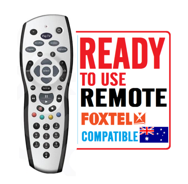 NEW Silver FOXTEL REMOTE Control Replacement For FOXTEL IQ IQ2 IQ3 or other TV