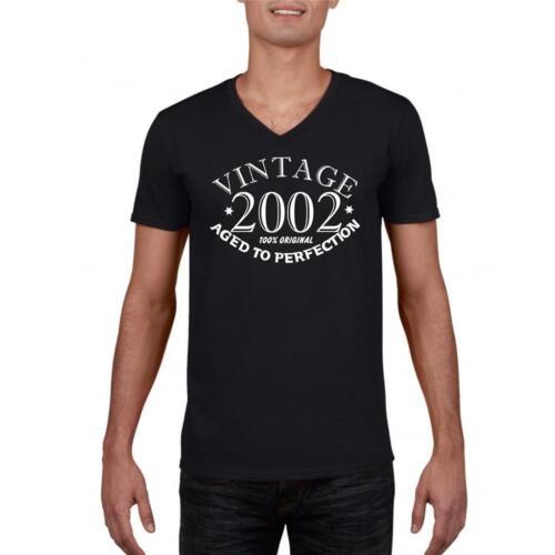 17th Anniversaire Cadeau année 2002 Aged To Perfection Drôle T-shirt unisexe old
