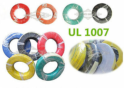 Xmas UL1007 30AWG 10M Electrical Wire Cable Cord Stranded Agile Hook-up Strip