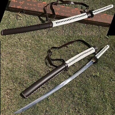 Hand Forged Folded Damascus Steel Blade Fully Functional TWD Michonne Katana Sword