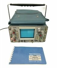 Vintage Tektronix 475 Oscilloscope For Parts Powers On Comes With Manual