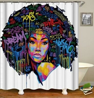 **WOW**African American Queen Shower Curtain Bath mat /& canvas sold separately.