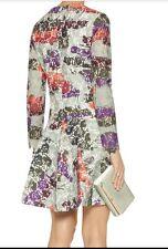"New Raoul ""Avalon"" Sebasta Long-Sleeve Dropped-Waist Mini bonded lace Dress 4"