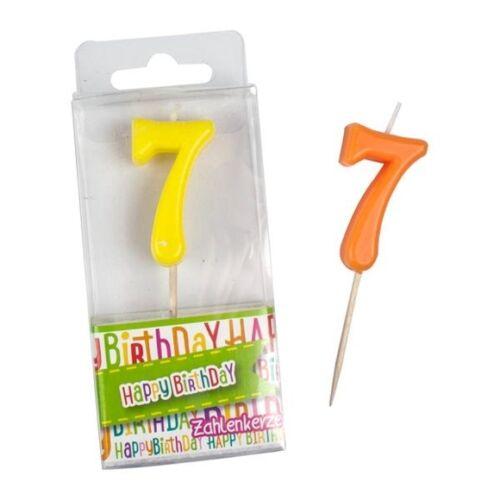 """Zahlenkerzen  /""""HAPPY BIRTHDAY/"""" Geburtstagskerze Zahlen 0-9 mit Befestigungsspieß"""