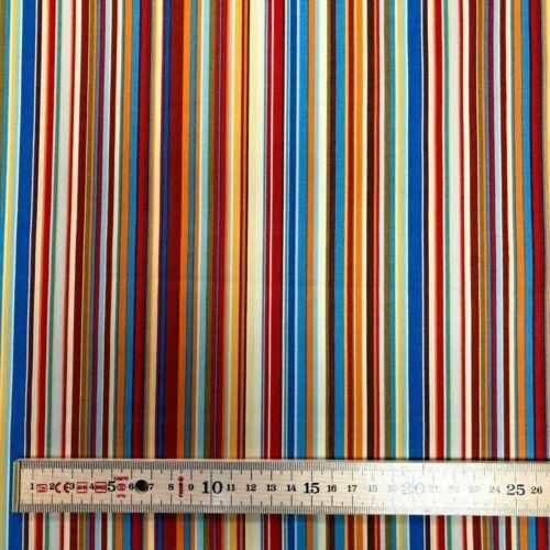 Rayas De Varios Colores 100/% Algodón Popelín De Tela Superior Rose /& Hubble